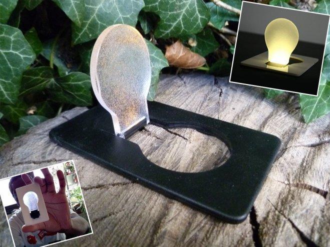 Kredi Kartı Şeklinde Ampul Lamba - Card Lamp