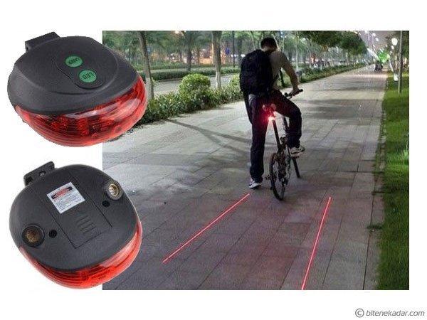 Lazer + LED Bisiklet Stop Lambası (Yola Lazer Yansıtan Arka Stop Lambası)