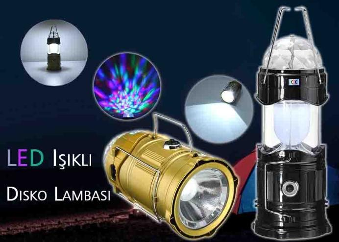 LED Işıklı Disko Lambası