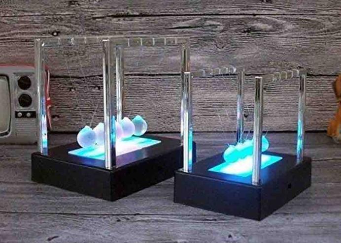 LED Işıklı Newton Balans Denge Topları