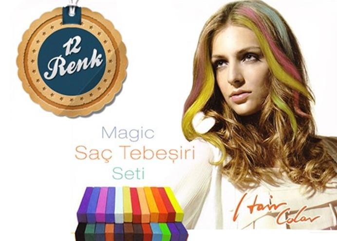 Magic Hair Saç Tebeşiri Seti (12 Renk)