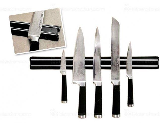 Bıçak Tutucu Çift Kanallı Güçlü Magnet Şerit (33cm)