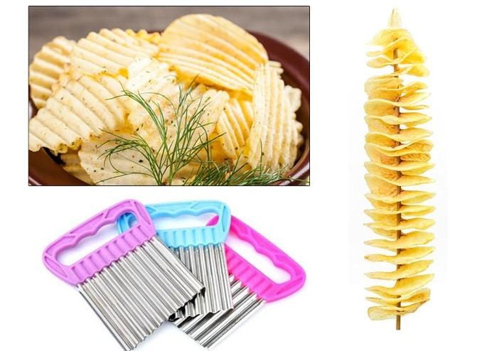 Meyve ve Sebze Doğrama Bıçağı: Chips Chopper Şekilli Doğrayıcı