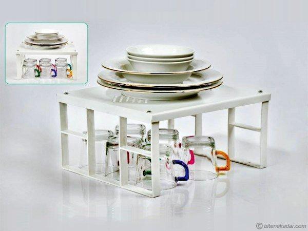Mutfak Organizeri: Dolap İçi Düzenleme Metal Raf