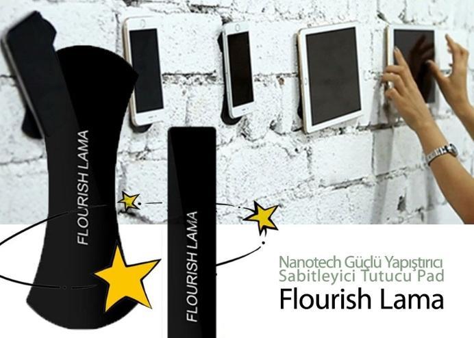 Nanotech Güçlü Yapıştırıcı Sabitleyici Tutucu Pad: Flourish Lama