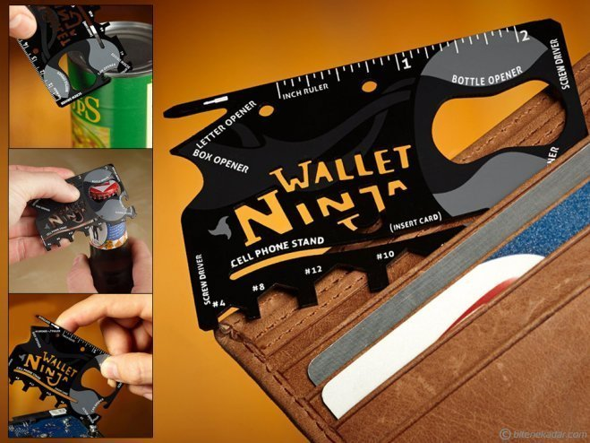 Multi Tool Kit: Kredi Kartı Şeklinde 18 in 1 Kit - Ninja Wallet