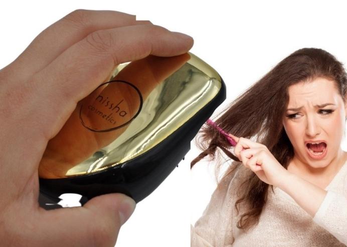 Nissha Teezer Elektriklenmeyi Önleyen Anti Statik Saç Düzleştirici Gold Saç Fırçası