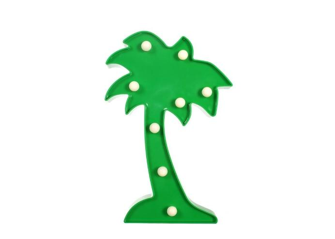 Palmiye Şeklinde Ledli Dekoratif Masa ve Duvar Lambası