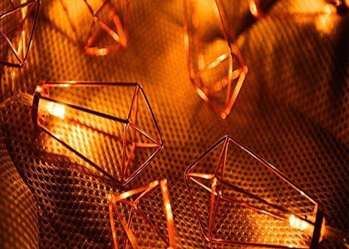 Kandil Şeklinde Metal Şerit Led