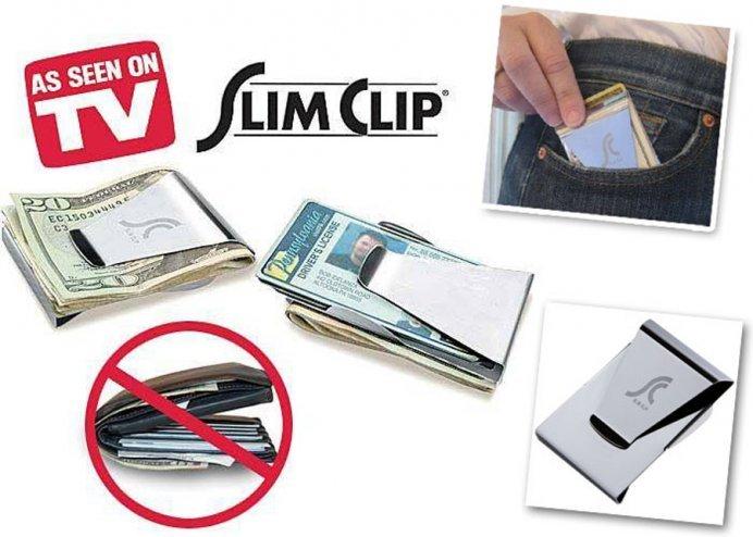 Slim Clip Paslanmaz Çelik Cüzdan