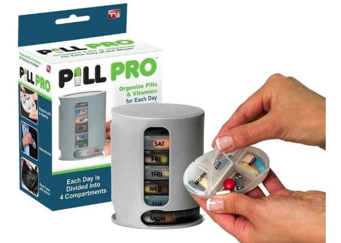 Pill Pro Haftalık 4 Bölmeli İlaç Takip Kutusu