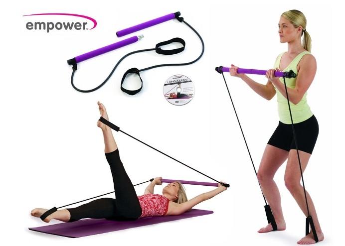 Pilates Egzersiz Aleti: Pilates Portable Jimnastik Çubuğu (DVD'li)