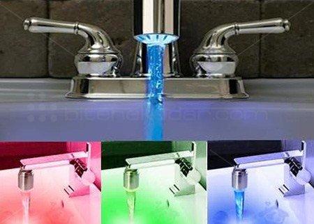 Rengarenk Musluklar : LEDli Renk Değiştiren Musluk Başlığı