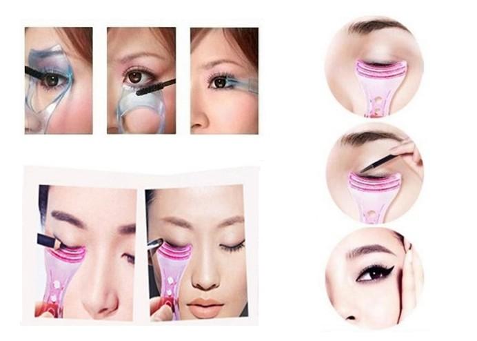 Kirpik Rimel ve Eyeliner Sürme Şablonu (2 Model)