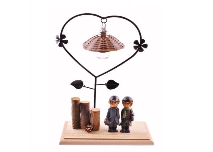 Romantik Çift Temalı Büyük Boy Masa Lambası Biblo