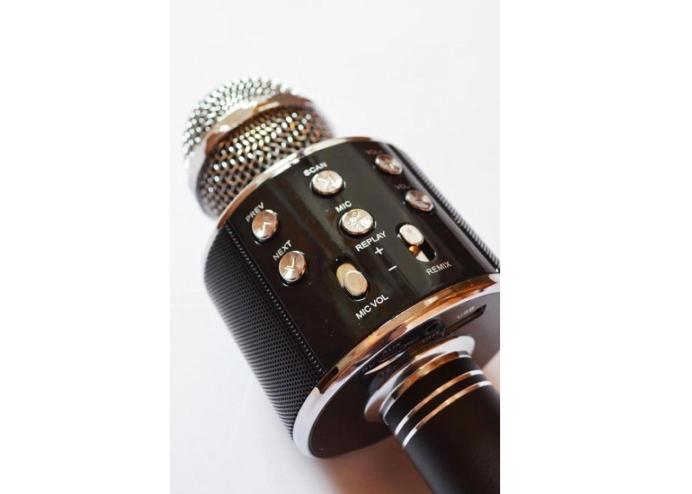 Şarj Edilebilir Telefon Ve Usb Bağlantılı Karaoke Mikrofon (Siyah)