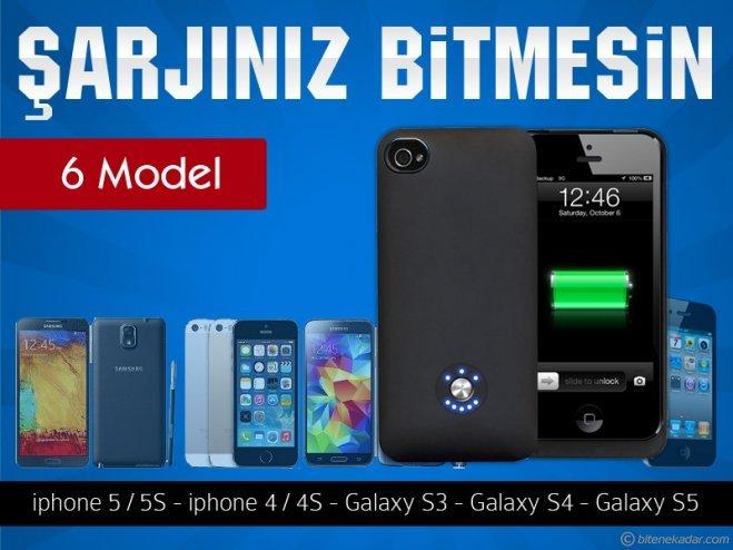 Şarjlı Kılıf - Koruyucu Arka Kapak: Iphone 4S/5S/5G - Samsung Galaxy Note 3 / S3/S4/S5