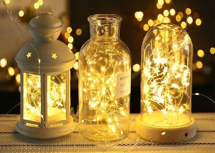 Peri LED: Şeffaf Kablolu Gün Işığı Renk Pilli Led Işık