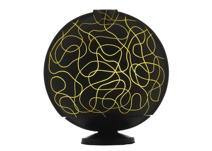 Sensohome Lamp Full Moon Small Neuron Black Motif Yellow Lamba