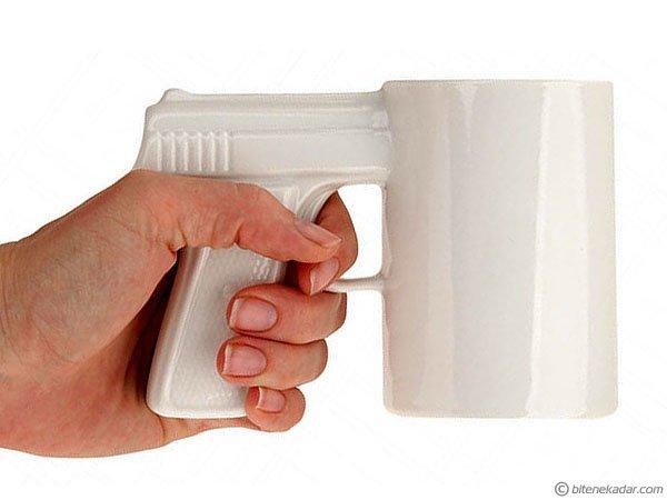 Silah Tasarımlı Kupa - Gun Mug