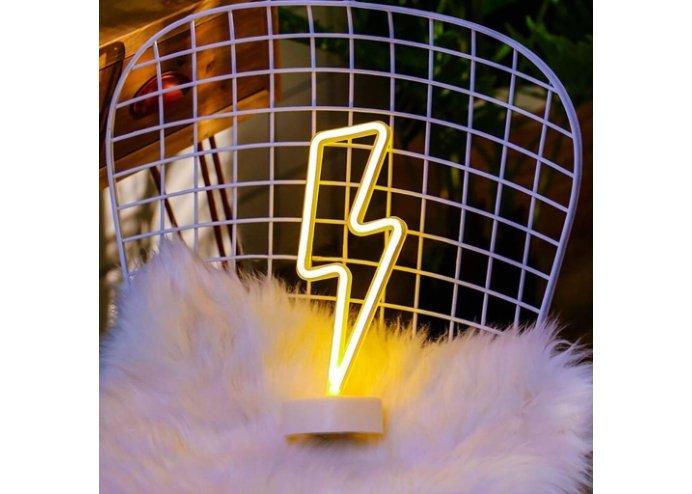 Şimşek Şeklinde Neon Dekoratif Led Lamba