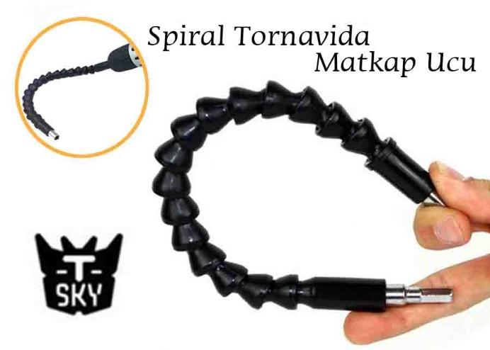 Snake Bit Spiral Tornavida Matkap Ucu