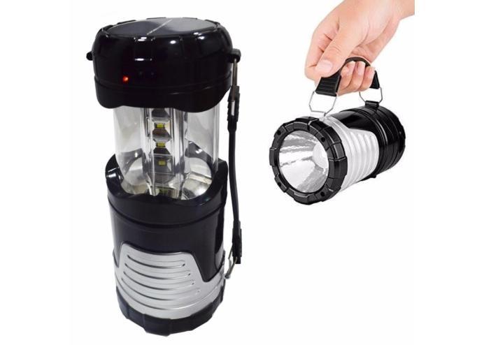 Solar USB Şarj Edilebilir Kamp Feneri Işık 12 LED Lamba
