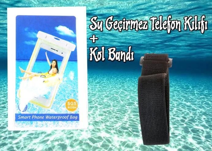 Su Geçirmez Telefon Kılıfı + Kol Bandı