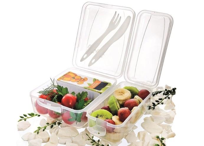 Takeaway Çatal Bıçaklı Saklama Kabı - Beslenme Kutusu