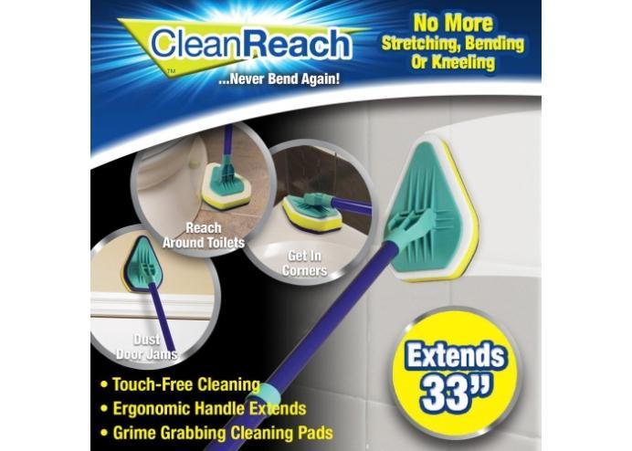 Teleskobik Banyo Mutfak Fayans Köşe Kenar Temizleyici Mop: Clean Reach