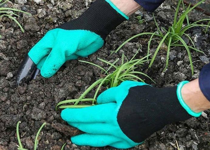 Toprak Kazma Bahçe Eldiveni: Garden Genie Gloves
