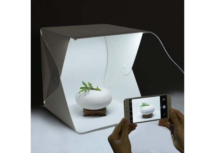 Ürün Çekim Çadırı Mini Fon Fotoğraf Stüdyosu Ledli Işık Perdesi