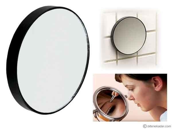 Büyüteç Ayna: Makyaj - Bakım Aynası (10X Büyütme + Vantuzlu)