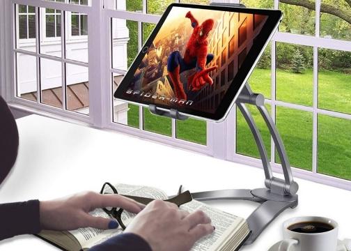 360 Derece Masaüstü Telefon Tablet Tutucu Ayarlanabilir Esnek Ayaklı Metal Gövdeli