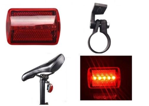 5 Ledli Bisiklet Arka Stop İkaz Lambası