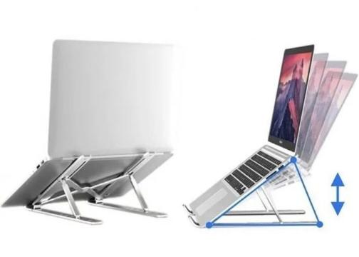 7 Kademeli Ayarlı Katlanabilir Laptop Tablet Standı Siyah