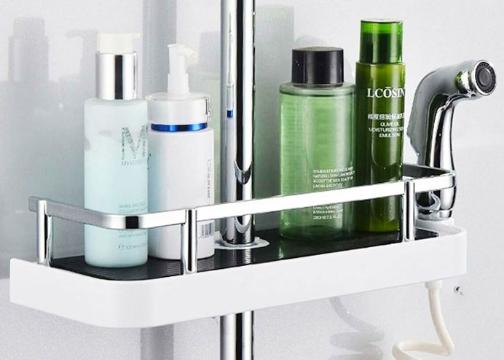 Banyo Duş Organizer Sabunluk Metalik Korumalı