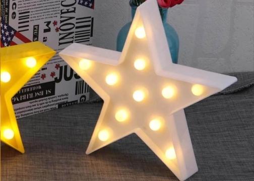 Beyaz Yıldız Star 11 LED Masa Duvar Gece Lambası