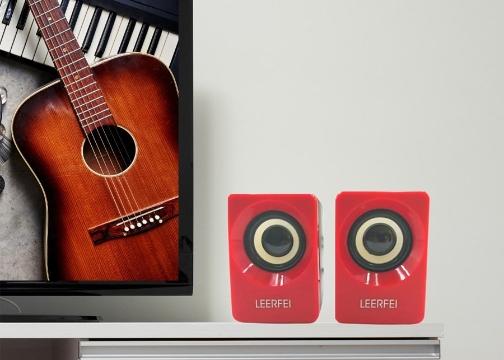 Buffer N62 1+1 Multimedia USB ve Jacklı Mini Hoparlör Yüksek Stereo Ses Sistemi