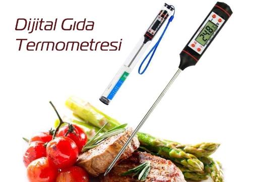 Dijital Gıda Termometresi Yemek Sıcaklık Ölçer