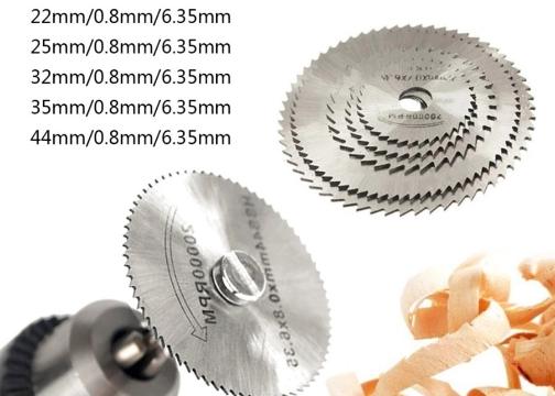Metal 6 Parça Disk Testere Seti Kiti: Mini Ahşap Kesme Çelik Bıçak Disk