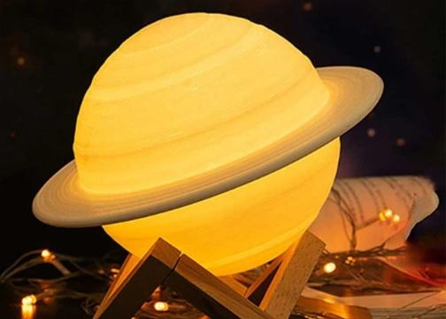 Renk Değiştiren Usb Şarjlı 3D Satürn Gece Lambası