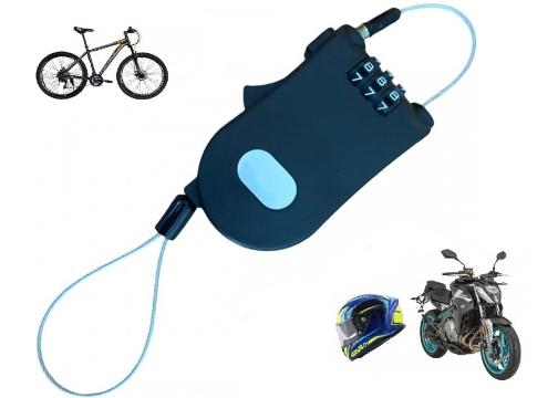 Şifreli Çelik Halat: Scooter Motosiklet Kask ve Bisiklet Kilidi