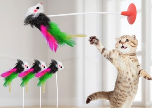 Vantuzlu Fare Kedi Oyuncağı