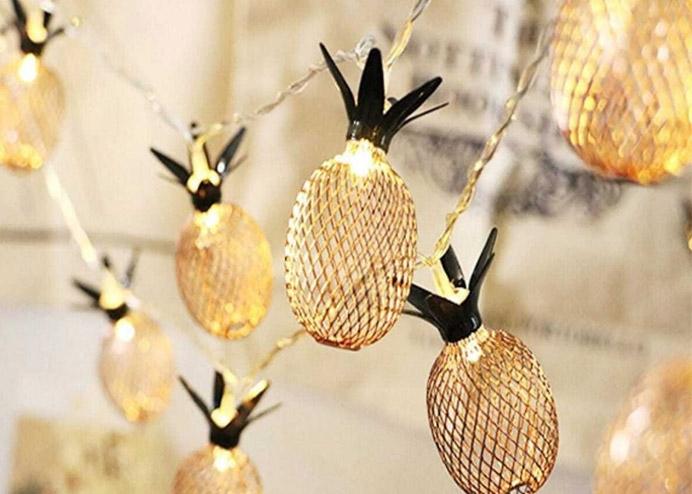 3D Ananas 10 LED Dekoratif Aydınlatma