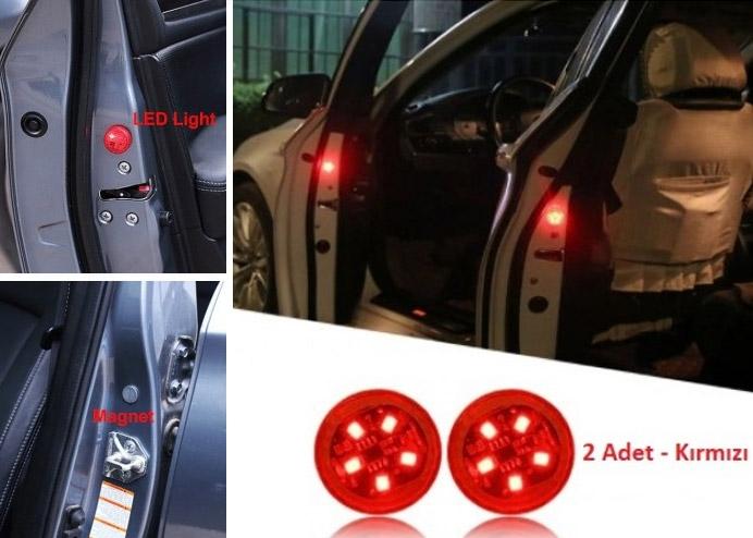 Araba Kapı Açma Sensörlü İkaz Lambası LED