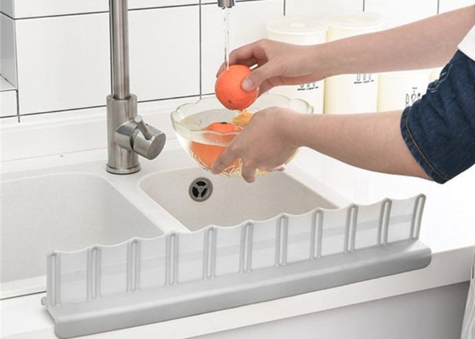 Vantuzlu Su Sızdırmaz Lavabo Kenar Tutucu Set: Mutfak Banyo Duş Bariyeri