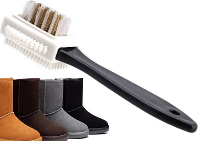 Çift Taraflı Çizme Bot Ayakkabı Temizleme Fırçası: Süet Nubuk Deri