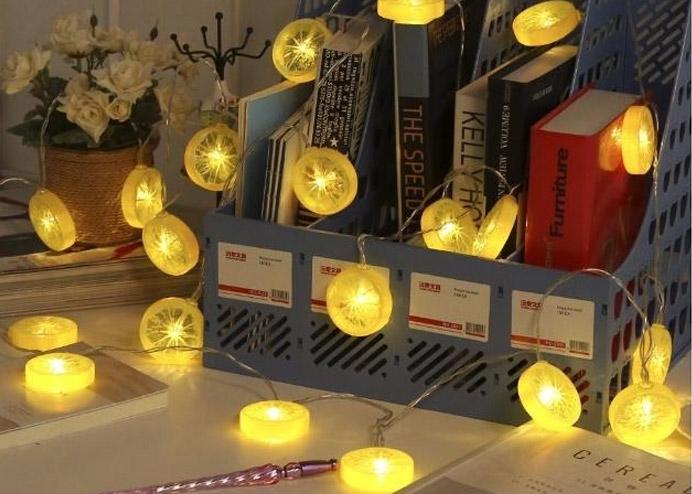 Limon Dilimi Şeklinde Dekoratif Dolama LED Aydınlatma 10 LED