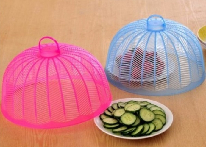 Plastik Yemek Ekmek Koruyucu Cibinlik Sineklik